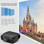 VIVIBRIGHT GP100 Projector Android 6.0 1280x800 Resolution 3200 Lumens Built-in WIFI Bluetooth Miracast Alirplay LED Projector