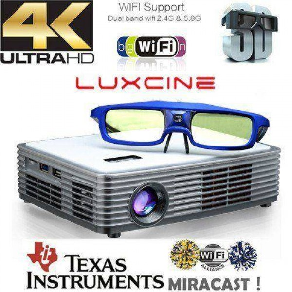 Luxcine Z4000 Ultra HD 4K 1920*2205p DLP Projector Blu-ray 3D Android 5.1 Wifi
