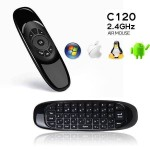 C120 2.4GHz Wireless QWERTY Keyboard + Air Mouse + Remote Control for Windows / Mac OS / Linux / Android