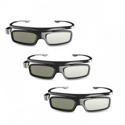 ORIGINAL JMGO 3D DLP GLASSES ( 3 SETS) ACTIVE SHUTTER RECHARGEABLE FOR ALL DLP PROJECTORS