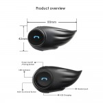 F1 Motorcycle Helmet Intercom Bluetooth Headsets Wireless Interphone Headphones 800-1000M Intercom Distance Hands-free with Mic