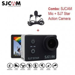 "Combo SJCAM Mic and SJCAM SJ7 Star Action Camera 4K 30fps 2.0"" Touch Screen Remote Ultra HD Ambarella A12S75 30M Waterproof Sports Camera"