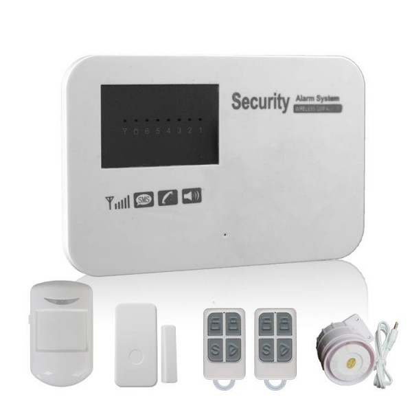 KONLEN Wireless GSM Security Alarm System with Timing Arm/Disarm Function Support APP