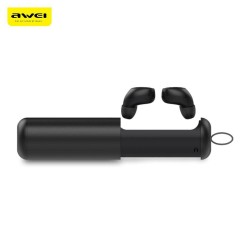 Awei T5 TWS Twins True Wireless Bluetooth V5.0 Earbuds With Charging Base HD MIC Power Bank