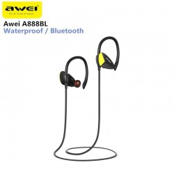 Awei A888BL Wireless Sweatproof  IPX4 Waterproof Bluetooth Stereo Sports In-Ear Earphone with mic