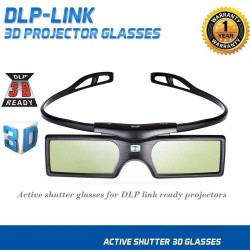 Emgreat 3D Glasses DLP Active Shutter Glasses for Optoma LG BenQ DLP-LINK Projectors