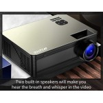 WZATCO M5 Full HD True 1080p Native LED Home Theater Video Projector 5500 Lumens Android 6.0 WiFi Portable Beamer movie Projector with HDMI USB