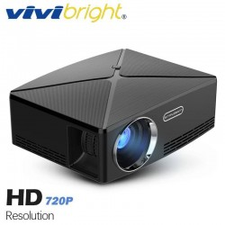 VIVIBRIGHT C80 HD Projector 1280x720 Video Proyector, Support 1080P (Optional C80 UP. Android 6 Beamer, WIFI, Bluetooth)