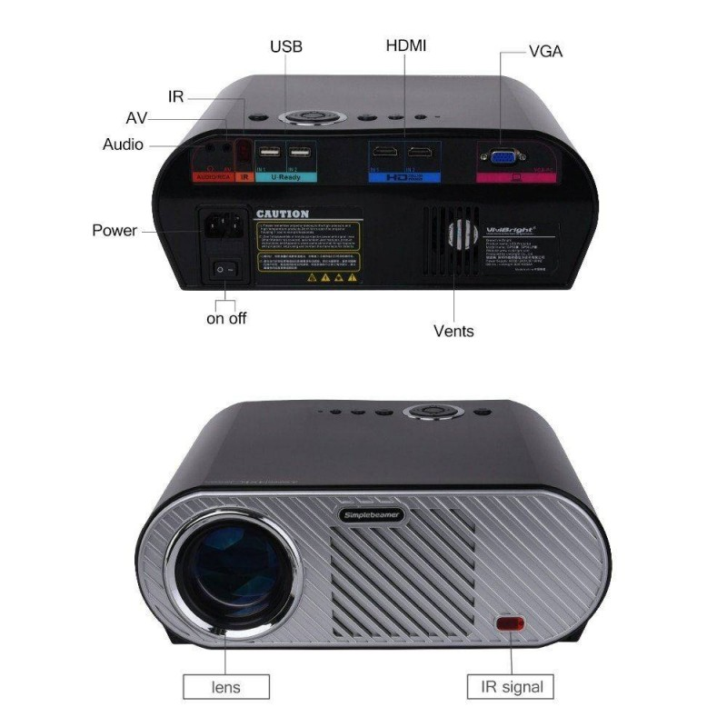 Brightness 5500lumens Long Life Led Full Hd Led Home: Vivibright GP90UP Led Projector– Rs 16590 Available In India