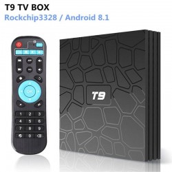 T9 TV Box Android 8.1 RK3328 Quad Core 4G/32G USB 3.0 Smart 4K Set Top Box Optional 2.4G/5G Dual WIFI Bluetooth