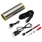 Portable Mini Air Compressor Backlit LCD Screen Rechargeable Car Tire Inflator Multipurpose Air Pump